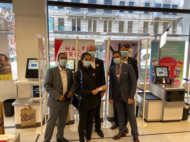 Andrew Caplan visiting Central London store team