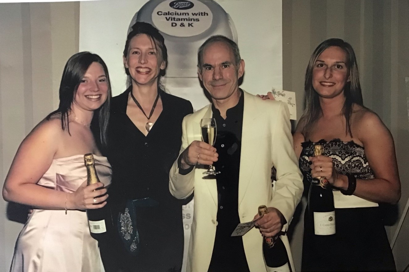 Jon with Boots Nottingham Support Office colleagues receiving an award